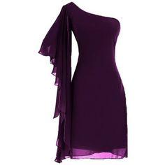 vestidos cóctel, corto, color violeta, hombro desnudo