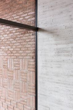 exterior interior + brick concrete contrast Saunalahti School / VERSTAS Architects-Contrast- inside outside Architecture Design, School Architecture, Concrete Architecture, Installation Architecture, Building Architecture, Ancient Architecture, Sustainable Architecture, Landscape Architecture, Concrete Bricks