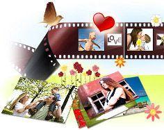 Crear y compartir diapositivas, collages, y retocar fotos
