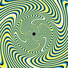 These Optical Illusions Trick Your Brain With Science | The combination of patterns and colors trick your brain into thinking this still psychedelic swirl is actually moving. Clive Gifford | WIRED.com
