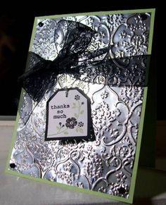 Aluminum foil-Cuttlebug