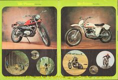 1971-ish Ossa Stiletto and Pioneer Motorcycle Brochure – photos, specs