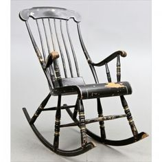 19 Appealing Swedish Rocking Chair Snapshot Idea Antique Chairs, Rocking Chairs, Sweet Home, Shabby Chic, Antiques, House, Furniture, Black, Draw