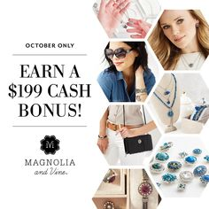 This month only! You can earn double your investment back in 45 days! Ask me how...  http://www.mymagnoliaandvine.com/LEANNW/content/become_independent.aspx