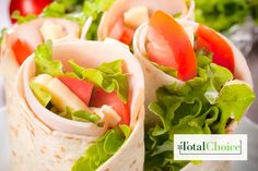 Total Choice Turkey Hummus Wrap: Spread the nutrition on thick with this Middle Eastern-inspired lunch. Enjoy this recipe on the Total Choice 1200-calorie plan.