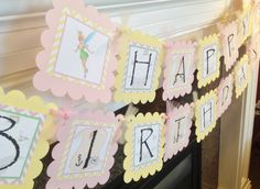 Peter Pan Inspired Birthday Banner  Pink & by EmeraldCityPaperie, $28.00