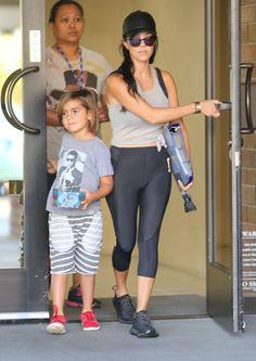 Kourtney Kardashian takes her son Mason to the doctor on October 13, 2015