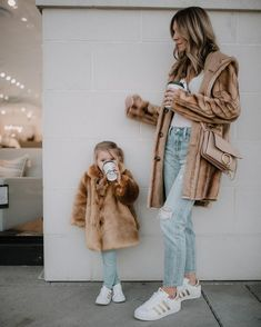 Image result for mommy and mini matching fur coats