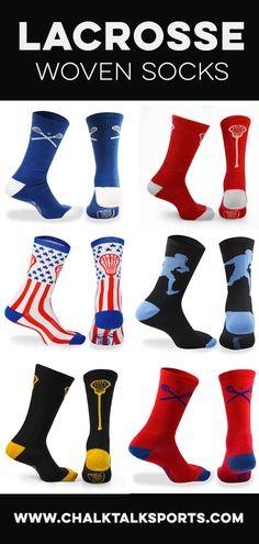Lacrosse Socks With Neon Sticks Calf Length Great Lacrosse Gift