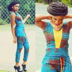 Rock the Latest Ankara Jumpsuit Styles these ankara jumpsuit styles and designs are the classiest in the fashion world today. try these Latest Ankara Jumpsuit Styles 2018 African Print Jumpsuit, Ankara Jumpsuit, African Print Dresses, African Dress, Jumpsuit Style, African Clothes, African Prints, African Inspired Fashion, African Print Fashion