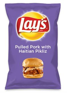 Wouldn't Pulled Pork with Haitian Pikliz be yummy as a chip? Lay's Do Us A Flavor is back, and the search is on for the yummiest chip idea. Create one using your favorite flavors from around the country and you could win $1 million! https://www.dousaflavor.com See Rules.