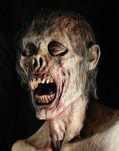 Zombies From The Walking Dead Zombie Art, Zombie Makeup, Fx Makeup, Zombie Head, Dead Zombie, Zombies, Arte Horror, Horror Art, Horror Movies