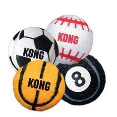 Sport Balls Assorted Extra Small 3pk -- To view further, visit now : Kong dog toys