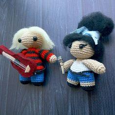 Курт и Эми  Kurt and Amy, club27 crochet toy amigurumi
