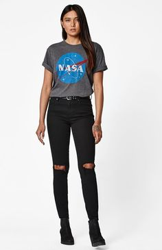 NASA Logo Crew Neck T-Shirt