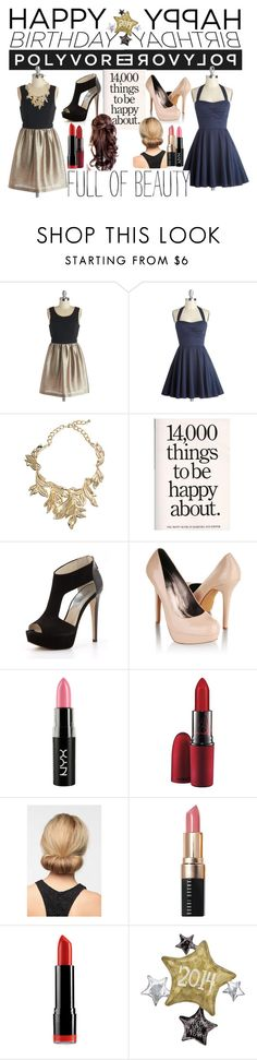 """""""Birthday Outfits"""" by sec71290 ❤ liked on Polyvore featuring ASOS, MICHAEL Michael Kors, Forever 21, NYX, MAC Cosmetics, Bobbi Brown Cosmetics, happybirthdaypolyvore and plus size dresses"""