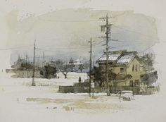 .watercolor and pencil,by Chien Chung Wei