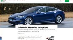 Tired of Waiting for Update, Consumer Reports Yanks Tesla Model S' Top Rating - http://www.sogotechnews.com/2017/05/01/tired-of-waiting-for-update-consumer-reports-yanks-tesla-model-s-top-rating/?utm_source=Pinterest&utm_medium=autoshare&utm_campaign=SOGO+Tech+News