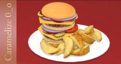 Lana CC Finds - Hamburger Plate by carameli-ze