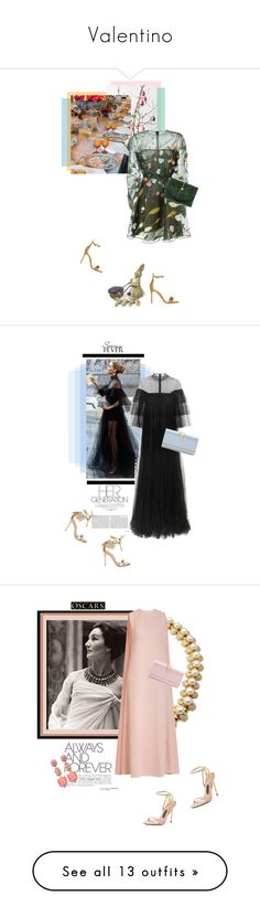 """""""Valentino"""" by theitalianglam ❤ liked on Polyvore featuring Valentino, Gianvito Rossi, Chanel, Easter, valentino, GianvitoRossi, attheemperorstable, ruffles, Bulgari and Anabela Chan"""