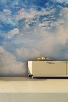 gem tlicher geht s nicht fototapete mit wolken tapeten ideen pinterest fototapete wolke. Black Bedroom Furniture Sets. Home Design Ideas