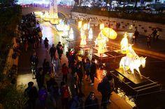 Lanternsat the Cheonggye Stream in Seoul