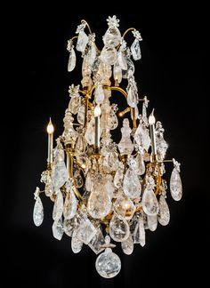 Rock crystal chandelier. Alexandre VOSSION. PARIS.