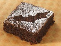 Cute brownie idea with icing sugar. Can use other shapes too!