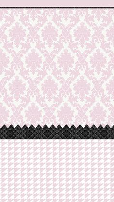 Pale Pink black damask houndstooth iphone phone background lock screen wallpaper