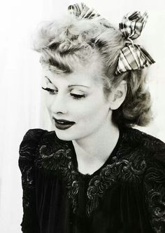 Lucille Ball, Stemology user Barbara Busha's choice for an iconic beauty! | beauty icon | celebrity beauty | old hollywood | 1950's | fifties | hollywood golden age