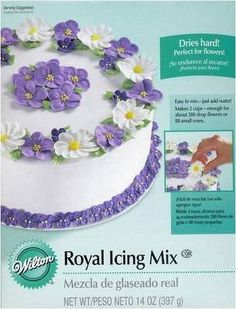 Royal Icing Mix for Flowers and Cookies by Wilton