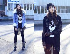Black Milk Clothing Cardigan, Zealotries Leggings, 6ks Jacket, Wasted Beanie, Wig