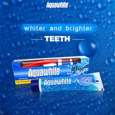 Aquawhite Blue Mint Gel toothpaste not only freshens up the breath and whitens teeth, it also helps prevent cavities.