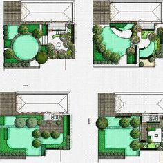 garden planning ideas at work Landscape Architecture Drawing, Landscape Model, Green Architecture, House Landscape, Landscape Design, Garden Design, Garden Privacy Screen, Backyard Pergola, Masterplan