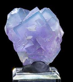 Blue & Purple Phantom Fluorite Mineral Specimen from Bingham, New Mexico
