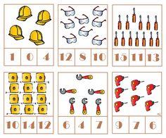 * Tellen! 2-3 Construction Tools, Community Helpers, Kindergarten Classroom, Educational Activities, Robot, Preschool, Travel, Firefighter, Father's Day