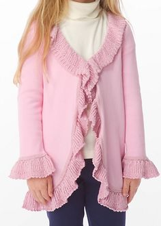 MINI SHERE SWEATER COAT - LILLYS PINK