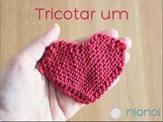 Coração em Ponto Mousse (Garter Stitch Heart)