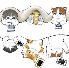 Cute Little Kittens, Kittens Cutest, Cute Cats, Cats And Kittens, Cute Animal Drawings Kawaii, Kawaii Drawings, Cute Drawings, Kitten Drawing, Cute Cat Drawing