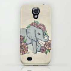 Little Elephant in soft vintage pastels Samsung Galaxy S4 & iPhone & iPod Case