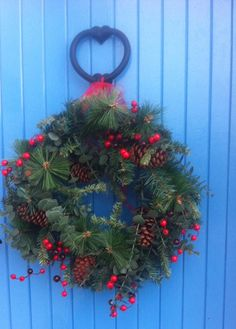 We had to share this gorgeous Christmas wreath image one of our customers kindly tweeted at the weekend featuring our Heart Door Knocker. Jim Lawrence team have serious wreath envy now ! (We also love the paint colour on the door.)   Have you got your wreath up ? We'd love to see it and share it (email cassie.rowland@jim-lawrence.co.uk) Call us old fashioned but we do love a nicely dressed front door!   (Featuring http://www.jim-lawrence.co.uk/ProductDetail/6215/Heart-Door-Knocker)
