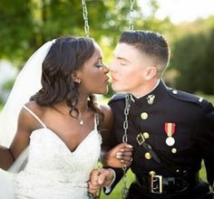 Gorgeous interracial couple surrounded by the love of their family Interracial Dating Sites, Interracial Marriage, Interracial Wedding, Interracial Love, Interacial Couples, Military Couples, Military Life, Mixed Couples, Luxe Wedding