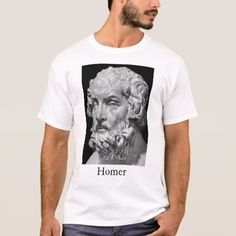 Homer and the Iliad T-Shirt - tap, personalize, buy right now! Tote Bags, Famous People, Fitness Models, Tees, Unique, Casual, Sleeves, Mens Tops, T Shirt