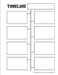 Blank Project Timeline Template  Writing    Project
