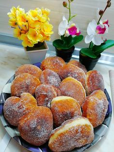 Baked Doughnuts, Brunch, Sweetest Day, Greek Recipes, Food Processor Recipes, Muffin, Food And Drink, Peach, Tasty