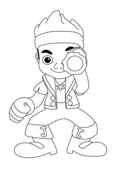 jake and the neverland pirates halloween coloring pages K0DTSyq7l