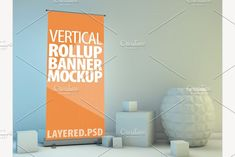 Roll Up Banner Mock-Up. PSD by 3D Graphics Shop on @creativemarket
