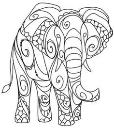 The Delicate Ones - Elephant | Urban Threads: Unique and Awesome Embroidery Designs