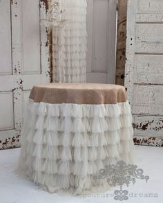 More burlap and just a few layers of tulle at the bottom. RBM
