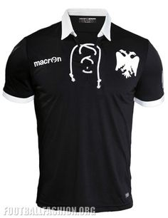 PAOK FC 2016 Macron 90th Anniversary Football Kit, Shirt, Jersey Classic Football Shirts, Football Fashion, Football Kits, Polo Ralph Lauren, Anniversary, Mens Tops, How To Wear, Black